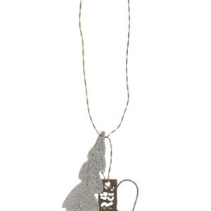 Petite feuille de chêne pailletée en métal Whalter Avec grisgris H feuille 6,5cm