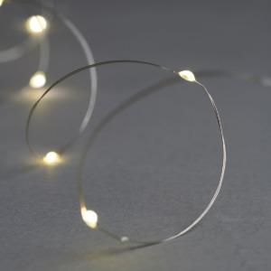 Guirlande lumineuse indoor Sirius Knirke Fil argent 1,90m + 30cm 20 leds warm white