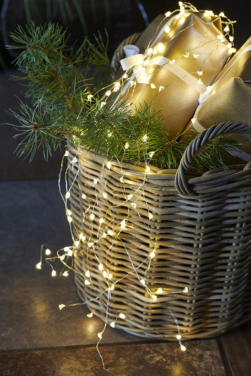 Guirlande électrique indoor Sirius taille : 8m + 3m fil argent, 80 leds warm white 30842_30843_Maggie_Living-18
