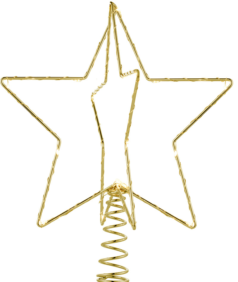 Tête de sapin Or Sirius Hauteur 28,5cm christmastop