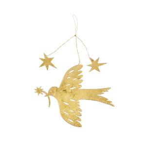 Petit oiseau à suspendre doré Bungalow