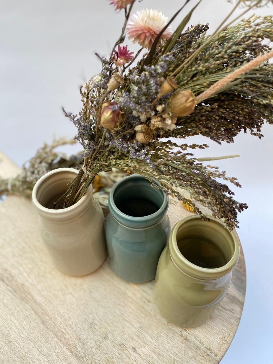Flacon en grès, Jars céramistes, Diamètre 8,5cm, H 15cm, Service Cantine