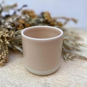 Gobelet en grès Jars céramistes coloris, Coloris Rose Buvard, Contenance 13 cl, Diamètre 6,5cm. H 6cm, Service Cantine