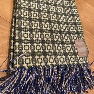 Plaid Burel en laine véritable fabriqué au Portugal 1,30m/1,80m