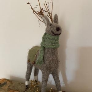 Grand renne en laine feutrée - Côté Table - H 33/16cm