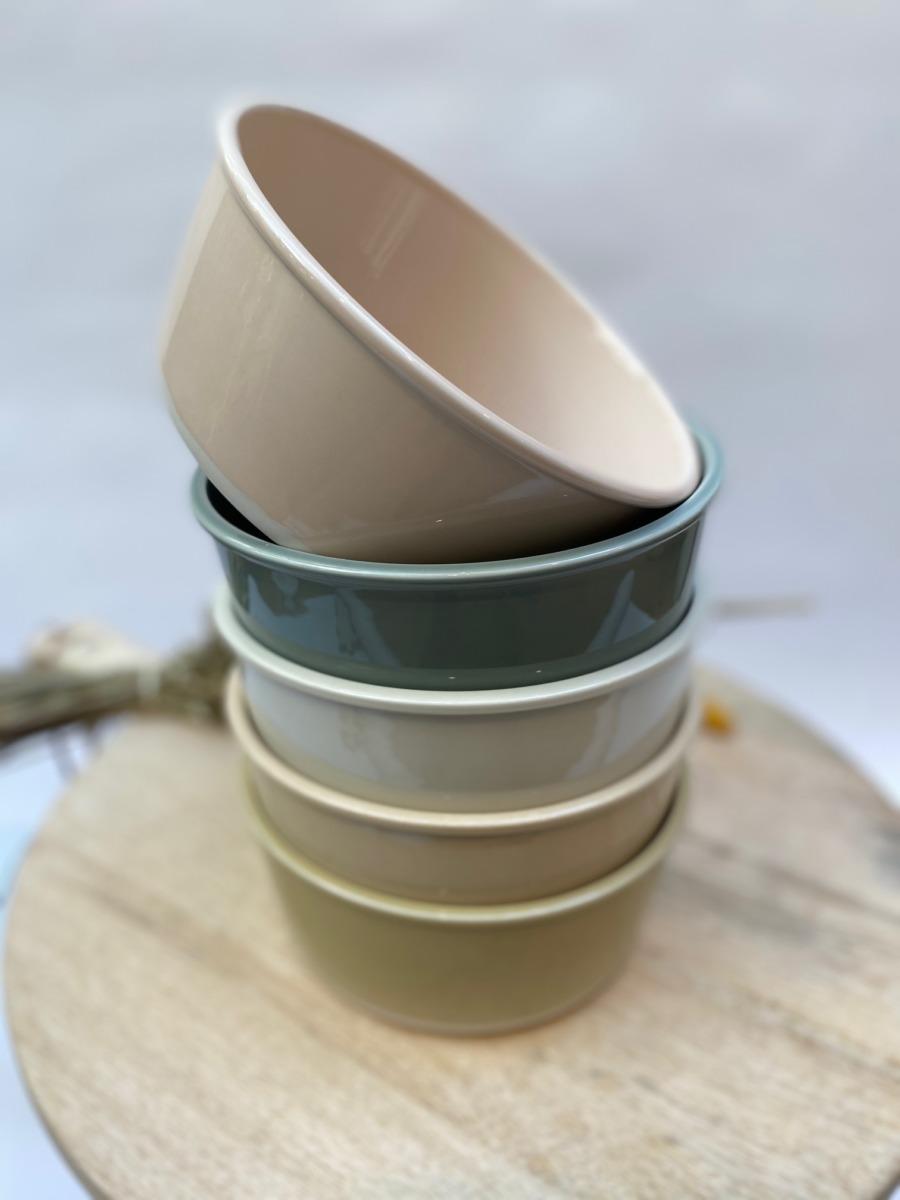 Saladier en grès, Jars céramistes, Diamètre 20cm, H 8,5 cm, Service Cantine