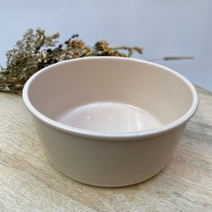 Saladier en grès, Jars céramistes, Rose buvard, Diamètre 20cm, H 8,5 cm, Service Cantine