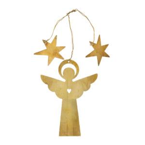 Petit ange à suspendre doré Bungalow