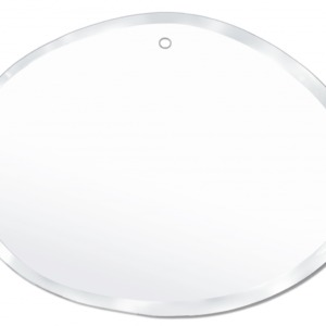 Miroir ovale biseauté entièrement fait à la main M nuance 55 / 40 cm