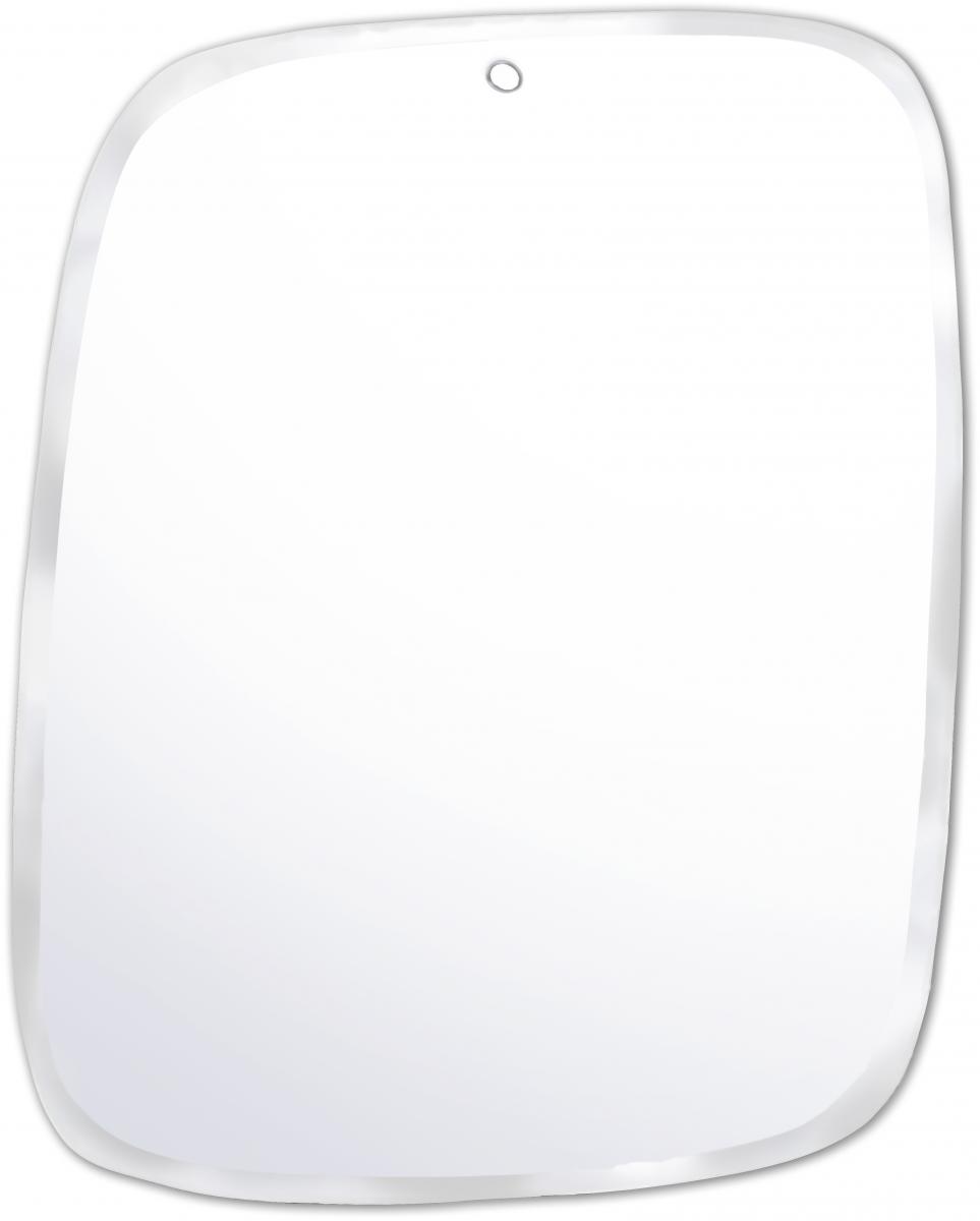 Miroir rectangulaire biseauté entièrement fait à la main M nuance 44 / 55 cm