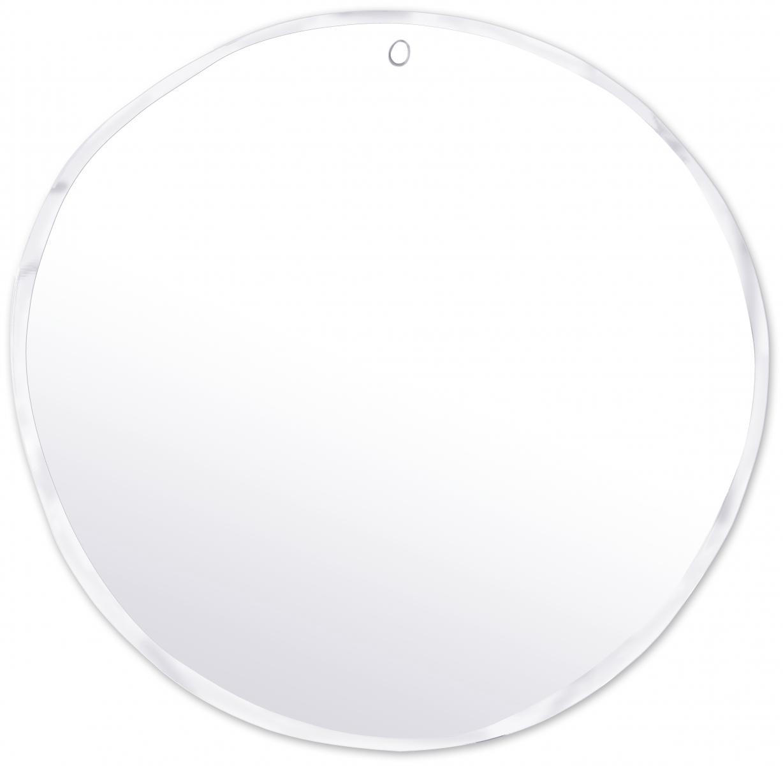 Grand Miroir rond biseauté entièrement à la main M nuance 70 / 67,5 cm