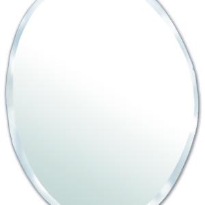 Miroir ovale biseauté entièrement fait à la main M nuance 50 / 66 cm
