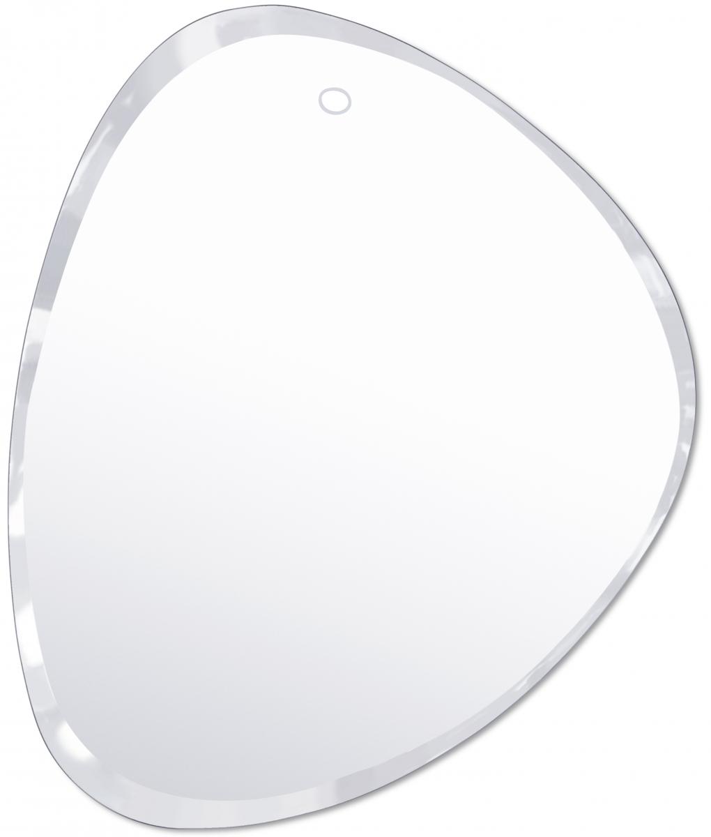 Joli miroir triangulaire biseauté et entièrement fait à la main M nuance 50,5 / 62 cm