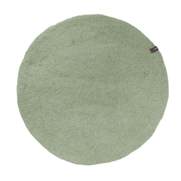 Set de table bicolore en laine feutrée 12cm - Muskhane - Coloris : vert tendre