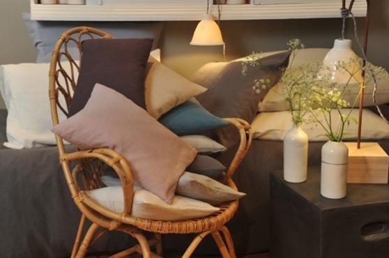 taie d 39 oreiller en pur lin lav 50 x 70 summer camp. Black Bedroom Furniture Sets. Home Design Ideas