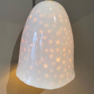 Baladeuse en porcelaine - Myriam Ait Amar - intérieur impression pois - grand modèle