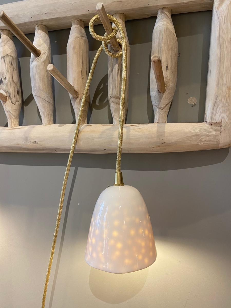 Baladeuse en porcelaine - Myriam Ait Amar - intérieur impression pois - petit modèle