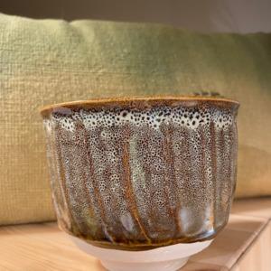 Bol Dashi - Jars céramistes - en grès, coloris Écume, 80ml,10,5x13