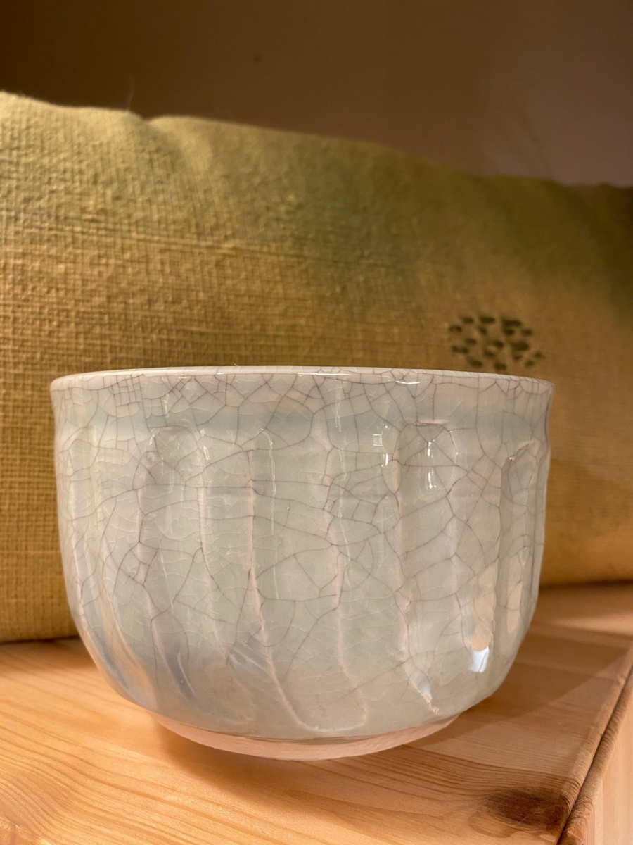 Bol Dashi - Jars céramistes - en grès, coloris céladon, 80ml,10,5x13