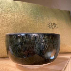 Bol Dashi - Jars céramistes - en grès, coloris charbon, 60ml, 7,5x13,5