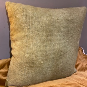 Coussin en coton garni - Bed and Philosophy - coloris « vert » 35x35cm
