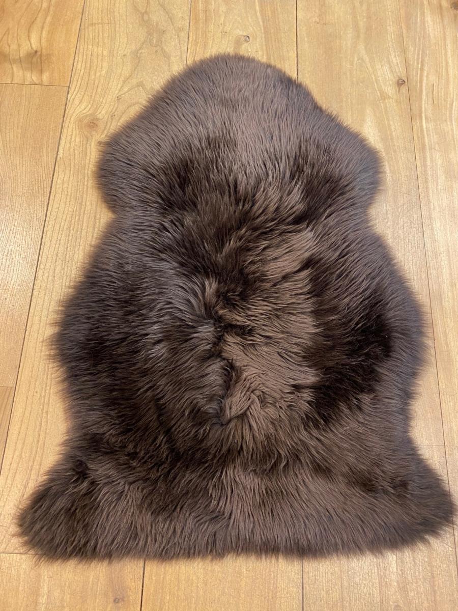 Peau de mouton véritable - Fibre By Auskin - Coloris chocolate 95x60