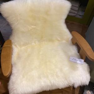 Peau de mouton véritable - Fibre By Auskin - Coloris ivory 95x60