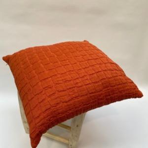 Coussin complet en 100% coton stonewashed structuré Vivaraise Rooïbos