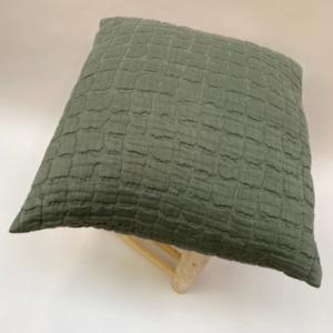 Coussin complet en 100% coton stonewashed structuré vivaraise Thym