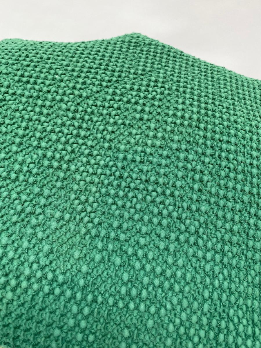 Jeté de lit « Maia» 100% coton nid d'abeille stonewashed - Vivaraise - Coloris épicéa - 140/200cm