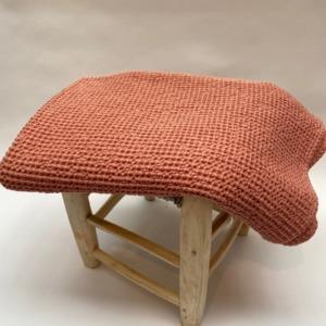 Jeté de lit « Maia» 100% coton nid d'abeille stonewashed - Vivaraise - Coloris pétale - 140/200cm