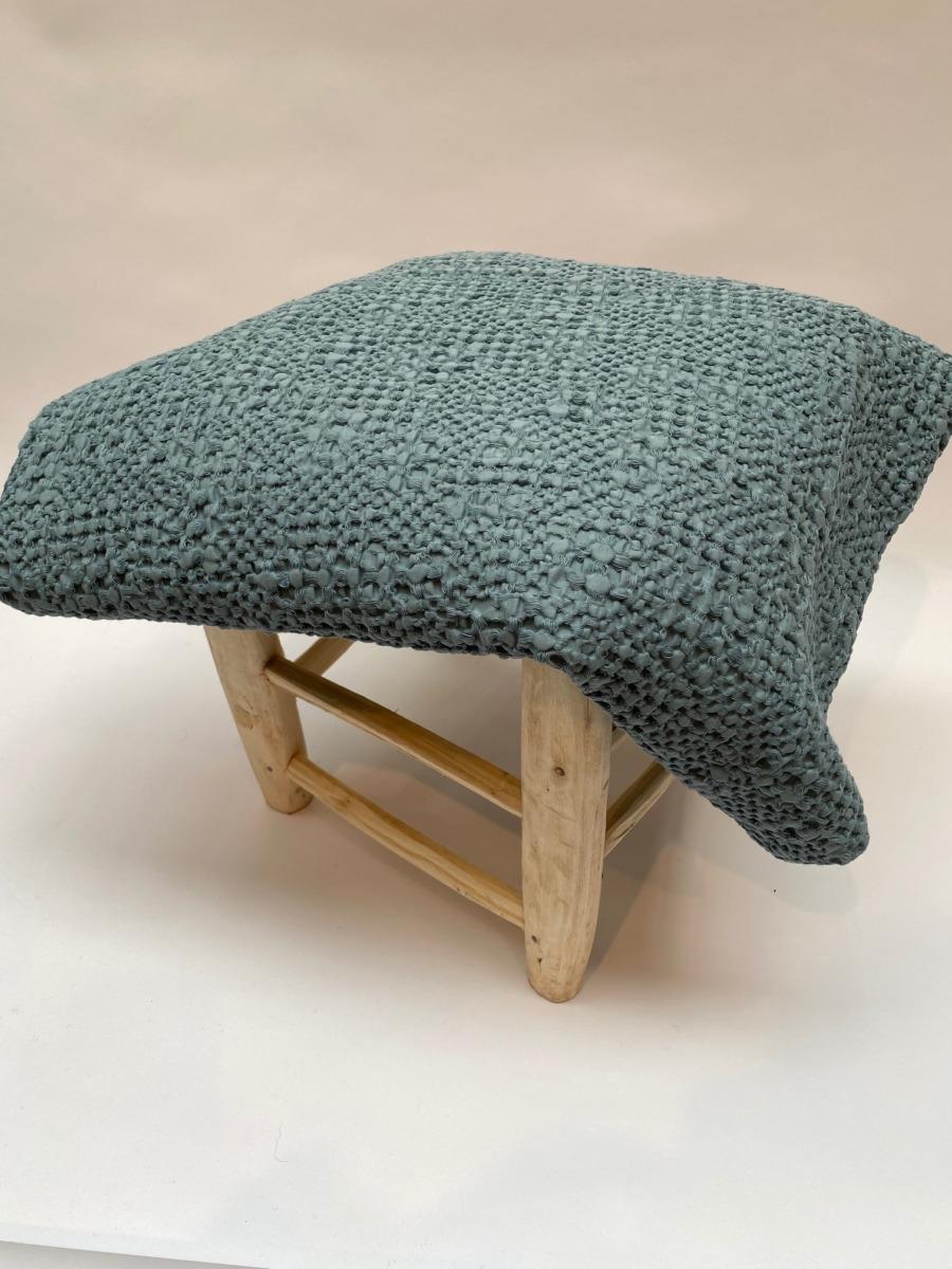 Jeté de lit « tana » 100% coton nid d'abeille stonewashed - Vivaraise - Coloris Alizée - 140/200cm