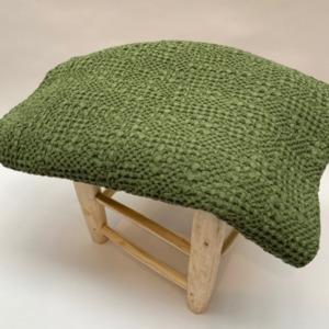 Jeté de lit « tana » 100% coton nid d'abeille stonewashed - Vivaraise - Coloris amande - 140200cm