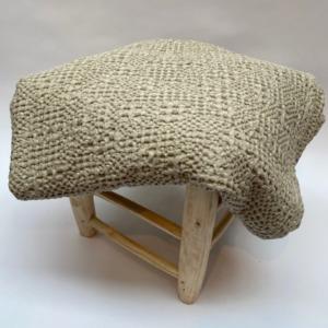 Jeté de lit « tana » 100% coton nid d'abeille stonewashed - Vivaraise - Coloris lin - 140/200cm