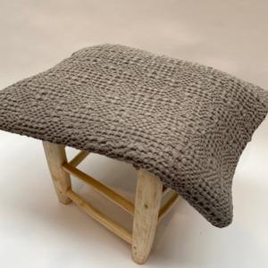 Jeté de lit « tana » 100% coton nid d'abeille stonewashed - Vivaraise - Coloris orage - 140/200cm
