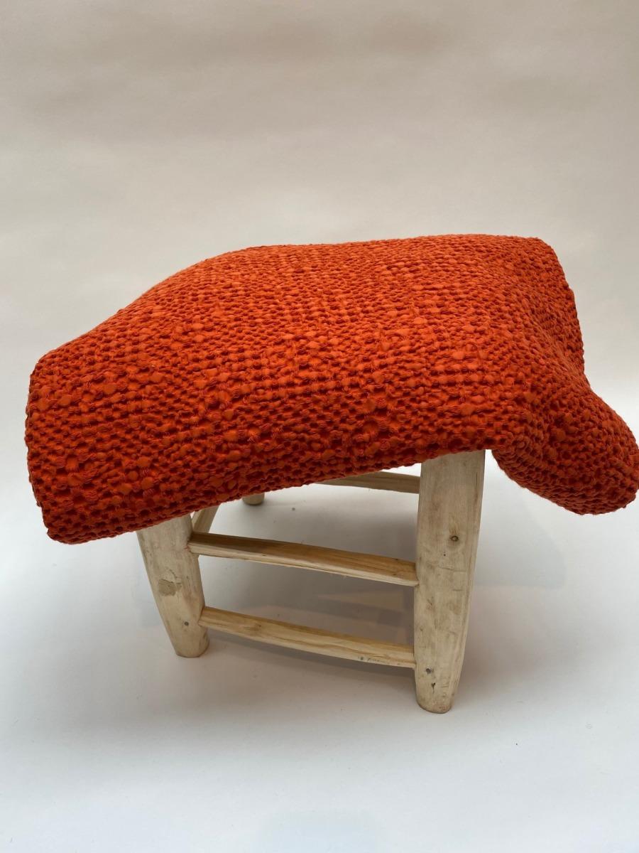 Jeté de lit « tana » 100% coton nid d'abeille stonewashed - Vivaraise - Coloris rooïbos- 140/200cm