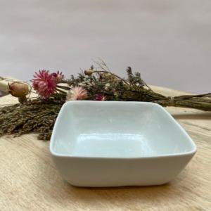 Mini coupelle carrée - Porcelino de Pomax - 12/12cm. H: 4,5cm