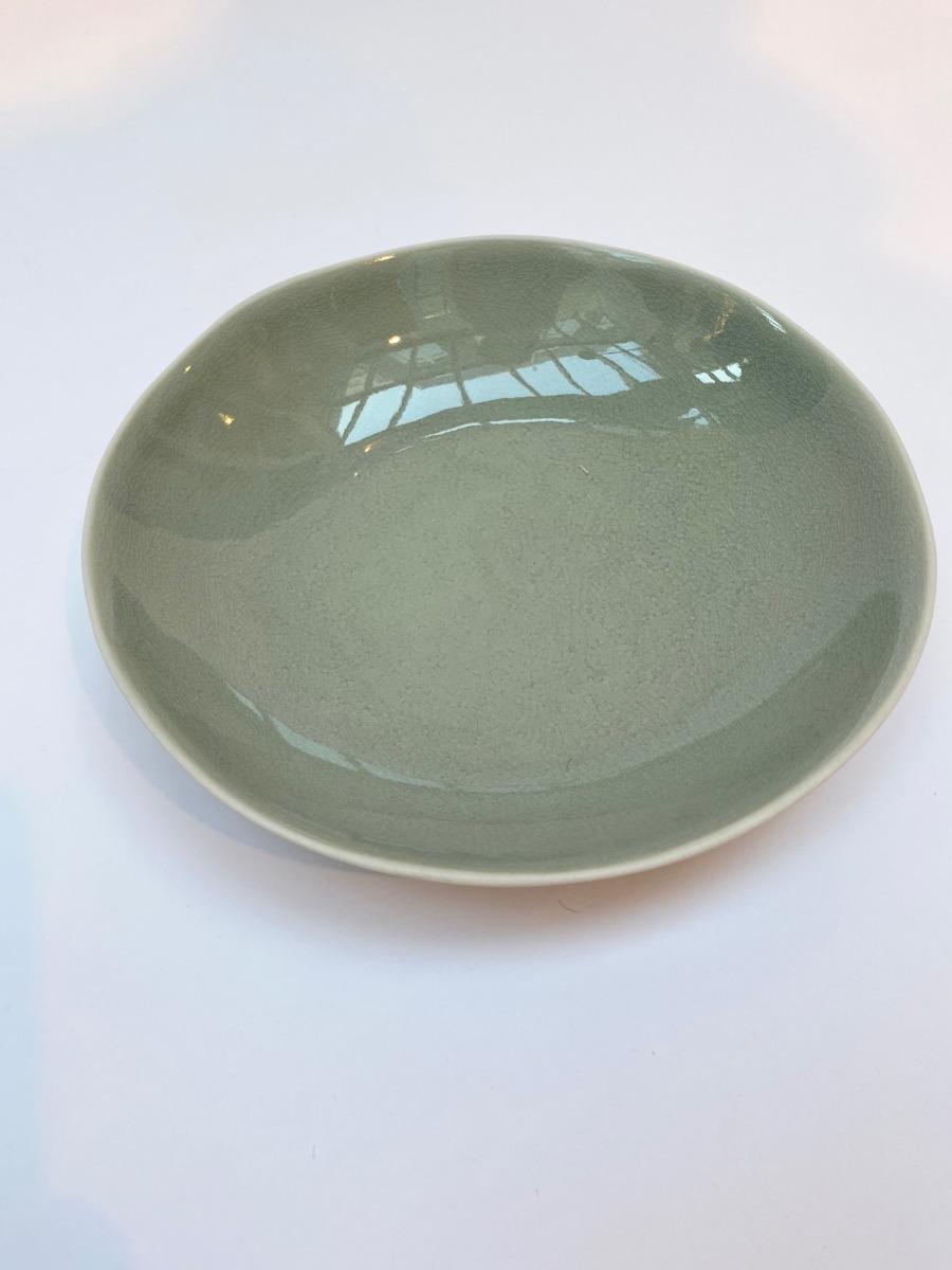 Assiette à pâtes en grès, Jars céramistes, Cachemire, Diamètre 23cm, H: 4,5cm, service Maguelone