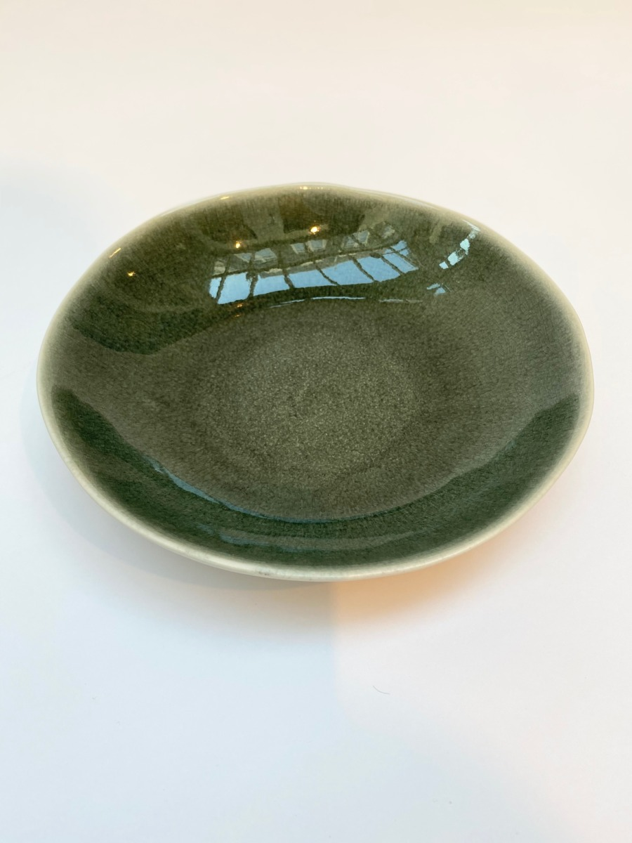Assiette à pâtes en grès, Jars céramistes, Orage, Diamètre 23cm, H: 4,5cm, service Maguelone