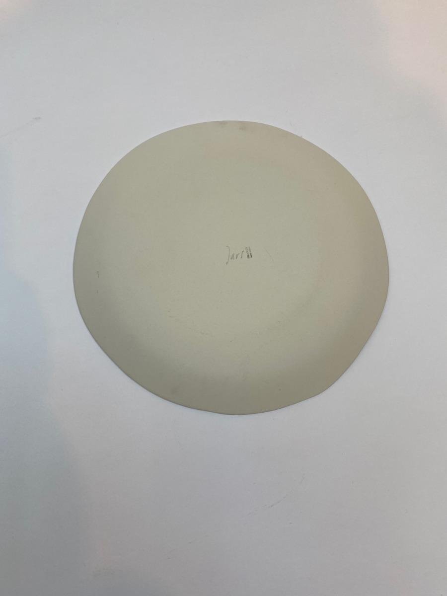 Assiette plate ronde en grès, Jars céramistes, Cachemire, Diamètre 26,5cm, H2,5cm, service Maguelone, dos