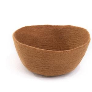 Bol M en laine feutrée - Muskhane - Diamètre 16cm. H: 7cm - Coloris caramel