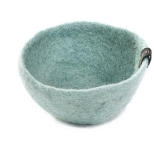 Bol M en laine feutrée - Muskhane - Diamètre 16cm. H: 7cm - Coloris jade