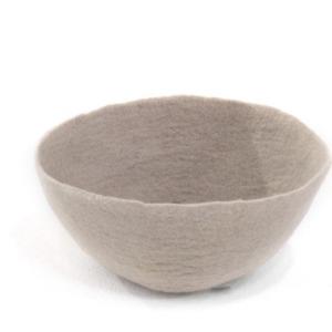 Bol M en laine feutrée - Muskhane - Diamètre 16cm. H: 7cm - Coloris sable