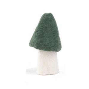 Champignon morille L en laine feutrée - Muskhane - Hauteur 13cm - Coloris granit