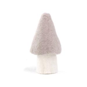 Champignon morille L en laine feutrée - Muskhane - Hauteur 13cm - Coloris sable