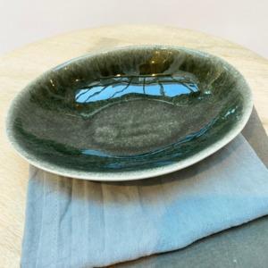 Coupelle ovale en grès, Jars céramistes, Orage, Dimensions : 18,5/15cm, H: 3,5cm, Contenance: 30cl, service Maguelone