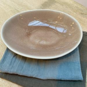 Coupelle ovale en grès, Jars céramistes, Tamaris, Dimensions : 18,5/15cm, H: 3,5cm, Contenance: 30cl, service Maguelone