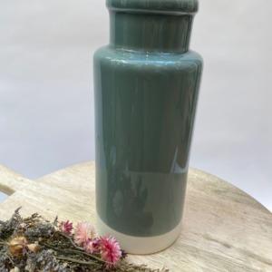 Flacon en grès, Jars céramistes, Gris oxyde, Diamètre 12cm, H: 30cm, Service Cantine
