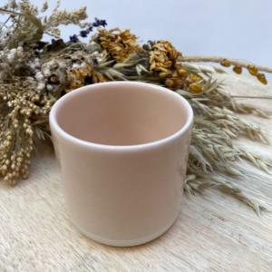 Gobelet en grès Jars céramistes, Coloris : Rose buvard, Contenance 20 cl, Diamètre 7,5cm. H: 7cm , Service Cantine