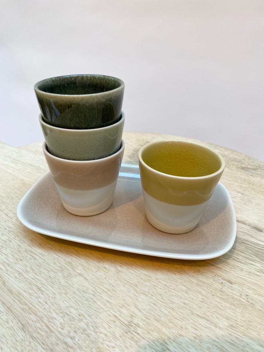 Gobelet en grès, Jars céramistes, Diamètre 7,5cm, H7cm Contenance 15cl, service Maguelone